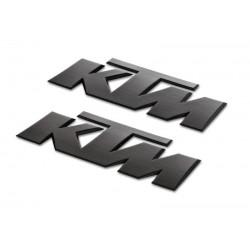 KTM Naklejki 3D (2 szt) czarne